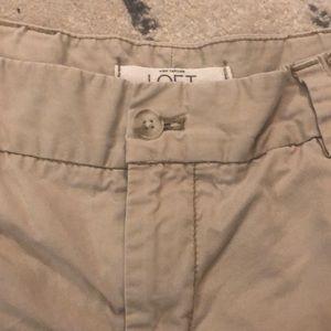 Ann Taylor Loft Beige Khaki Shorts